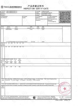304SS inspectiecertificaat