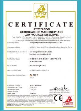 CE-certificaat van capping machine